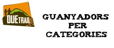GUANYADORS PER CATEGORIES